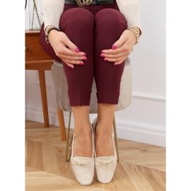 Women's beige loafers GS12P Beige 2