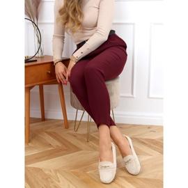 Women's beige loafers GS12P Beige 3