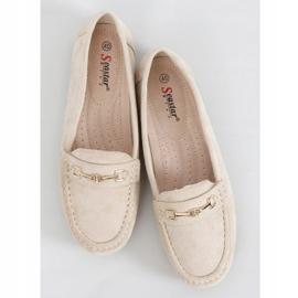 Women's beige loafers GS12P Beige 1
