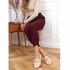 Women's beige loafers T395 Beige 2