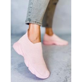 Pink NB399 Pink socks sports shoes 3