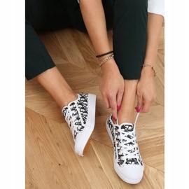 Black women's sneakers XL30P Black white 2