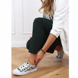 Black women's sneakers XL30P Black white 3