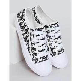 Black women's sneakers XL30P Black white 1