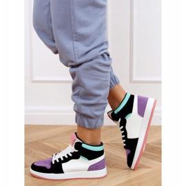 NB505 Purple high-top sneakers multicolored 3