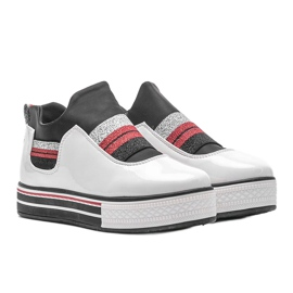 White lacquered sneakers from Kaitlynn 1