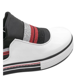 White lacquered sneakers from Kaitlynn 3