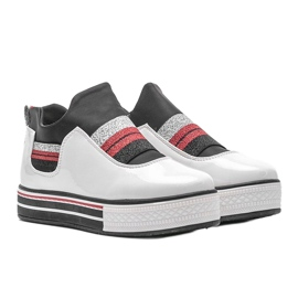 White lacquered sneakers from Kaitlynn 4