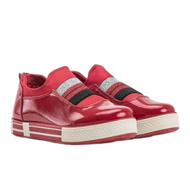 Jayde Patent Leather Sneakers red 1