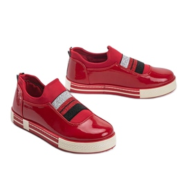 Jayde Patent Leather Sneakers red 2