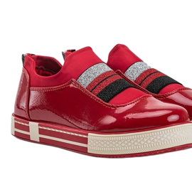 Jayde Patent Leather Sneakers red 3
