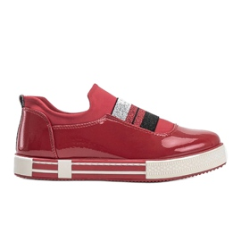 Jayde Patent Leather Sneakers red 4
