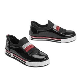 Black patent Jayde trainers 2