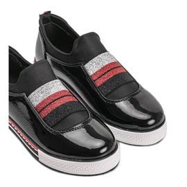 Black patent Jayde trainers 3