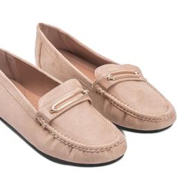 Keyla beige women's moccasins 1