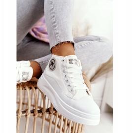 Women's High Sneakers On The Platform White Nice Girl 7