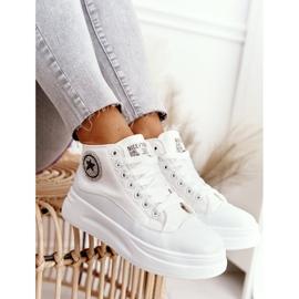 Women's High Sneakers On The Platform White Nice Girl 8