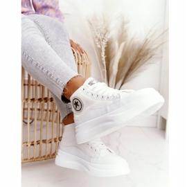 Women's High Sneakers On The Platform White Nice Girl 1