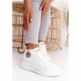 Women's High Sneakers On The Platform White Nice Girl 2