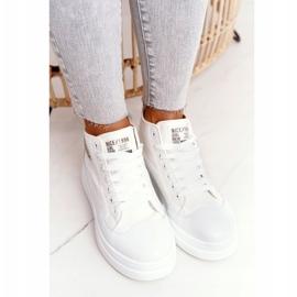 Women's High Sneakers On The Platform White Nice Girl 3