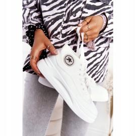 Women's High Sneakers On The Platform White Nice Girl 4