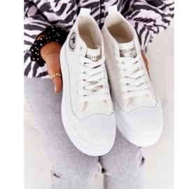 Women's High Sneakers On The Platform White Nice Girl 5