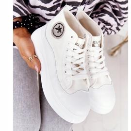 Women's High Sneakers On The Platform White Nice Girl 6