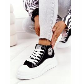 Women's High Sneakers On The Black Nice Girl Platform white 2
