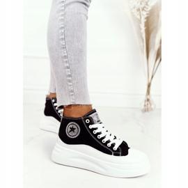 Women's High Sneakers On The Black Nice Girl Platform white 3