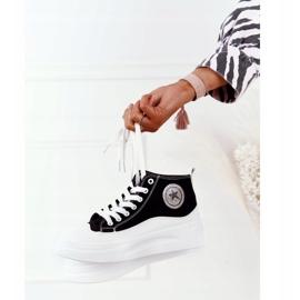 Women's High Sneakers On The Black Nice Girl Platform white 4