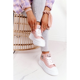 Women's High Sneakers On The Platform Pink Nice Girl white 3
