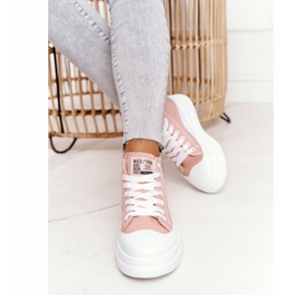 Women's High Sneakers On The Platform Pink Nice Girl white 4