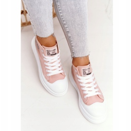 Women's High Sneakers On The Platform Pink Nice Girl white 6
