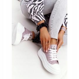 Women's High Sneakers On The Gray Platform Nice Girl white grey 2
