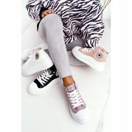 Women's High Sneakers On The Gray Platform Nice Girl white grey 4