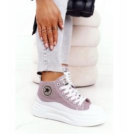 Women's High Sneakers On The Gray Platform Nice Girl white grey 6