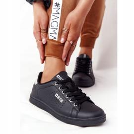 Women's Leather Sneakers Big Star DD274586 Black-Silver 4