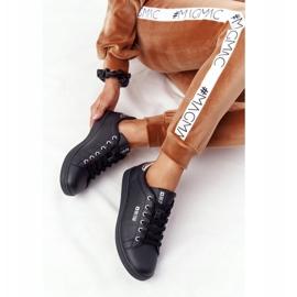 Women's Leather Sneakers Big Star DD274586 Black-Silver 1