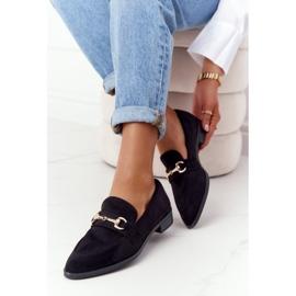 S.Barski Elegant Women's Loafers S. Barski Suede Black 1