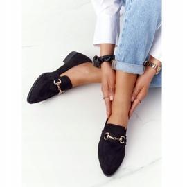 S.Barski Elegant Women's Loafers S. Barski Suede Black 3
