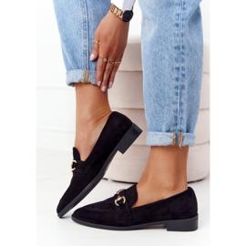 S.Barski Elegant Women's Loafers S. Barski Suede Black 2