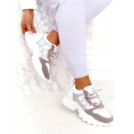 Evento Sports women's sneakers News 21SP26-3973 white silver grey golden 2