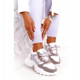 Evento Sports women's sneakers News 21SP26-3973 white silver grey golden 1