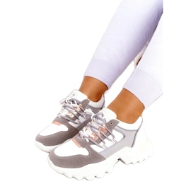 Evento Sports women's sneakers News 21SP26-3973 white silver grey golden 3