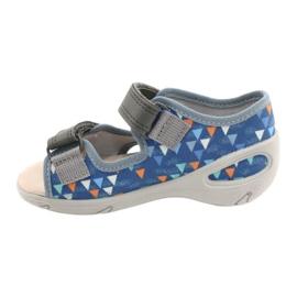 Befado children's shoes pu 065P158 blue grey 2