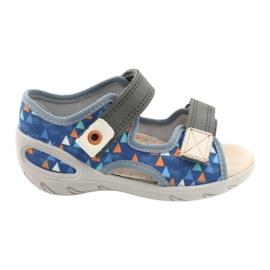 Befado children's shoes pu 065P158 blue grey 1
