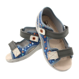 Befado children's shoes pu 065P158 blue grey 5
