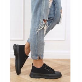Black women's sneakers (black sole) LA122 Allblack 2