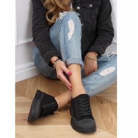Black women's sneakers (black sole) LA122 Allblack 3