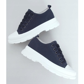 Navy blue women's sneakers LA122 Navy 1